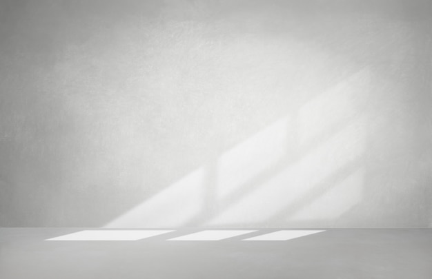 Gray wall in an empty room with concrete floor Premium Photo