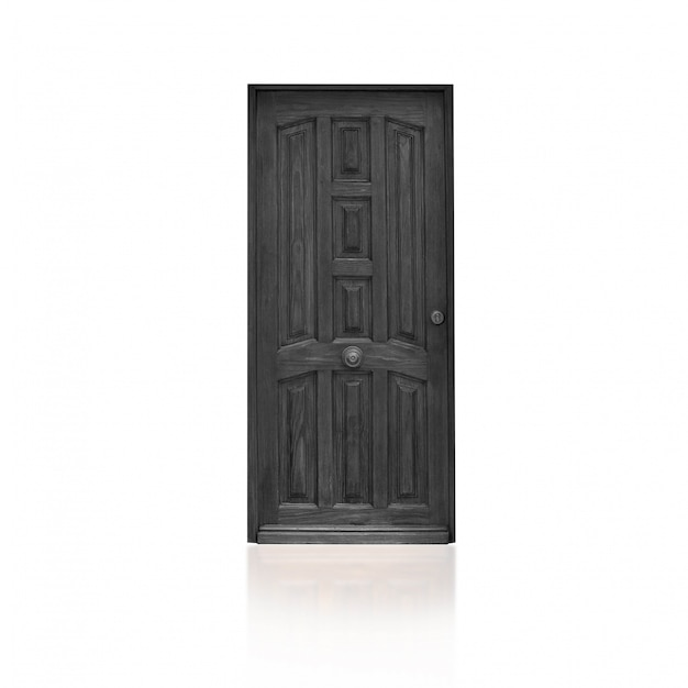 Gray wooden door Free Photo