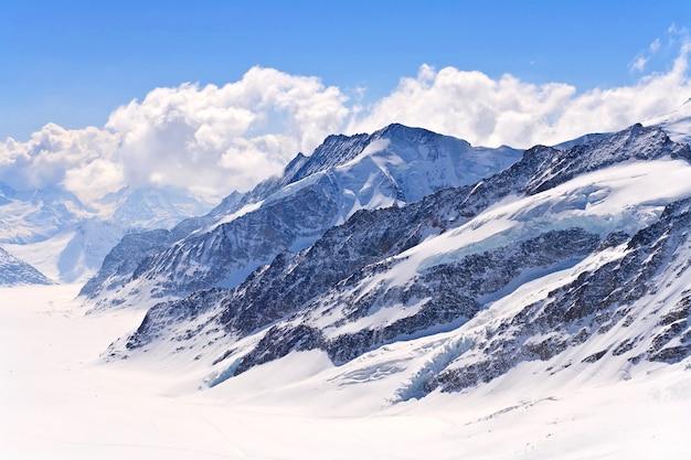 スイスアルプス、great aletscg glacierユングフラウ、swizerland Premium写真