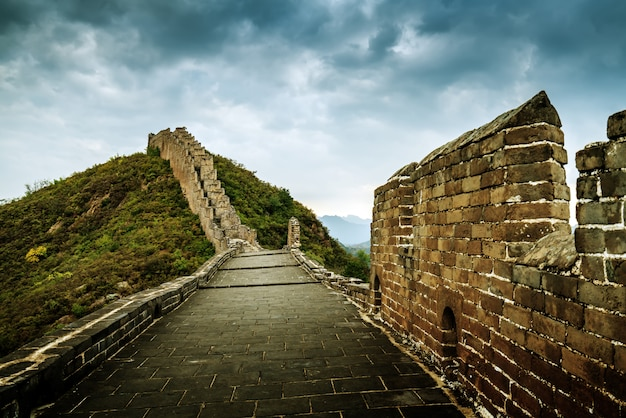 The great wall of china Premium Photo