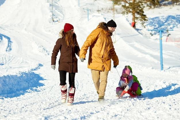 Великие зимние выходные на свежем воздухе Premium Фотографии