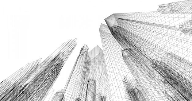 Большой торговый и инвестиционный центр это центр офисов, банков, резиденций, отелей, торговых центров. Premium Фотографии
