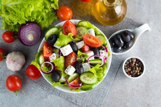 Greek salad Premium Photo