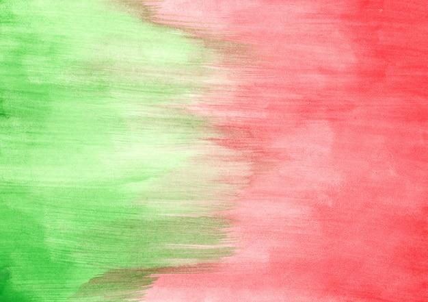 녹색과 빨강 수채화 텍스처 무료 사진