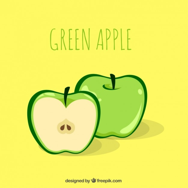 delicious green apple illustration - photo #19