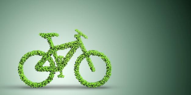 Green bicycle in transportation Premium Photo