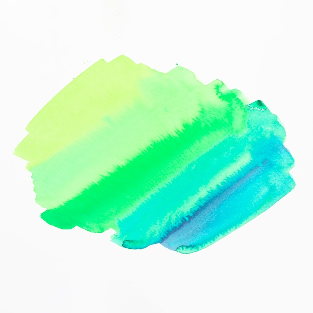 Green and blue shade watercolor stain isolated on white background Free Photo