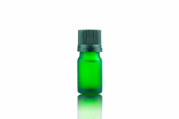 Green bottle dropper for contain liquid marijuana cannabis Premium Photo