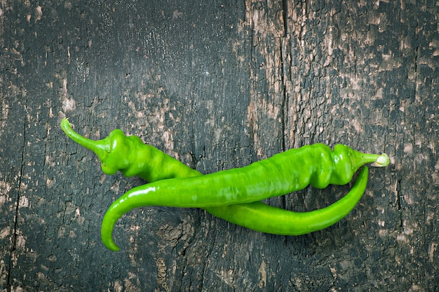 Green chili peppers Free Photo
