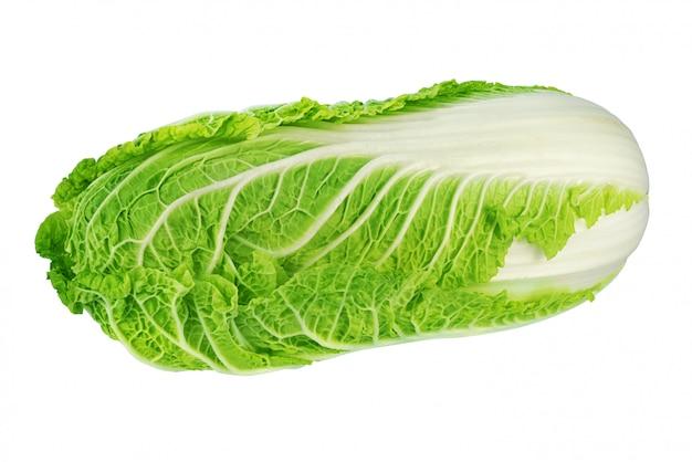 白で隔離される緑の白菜 Premium写真