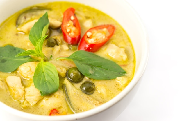 Green curry soup Premium Photo