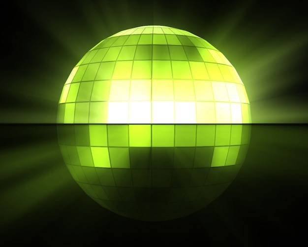 Green disco ball Premium Photo