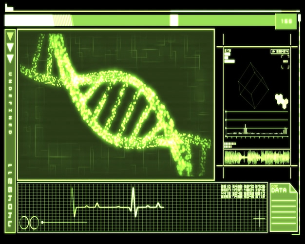 Green dna helix technology Photo | Premium Download