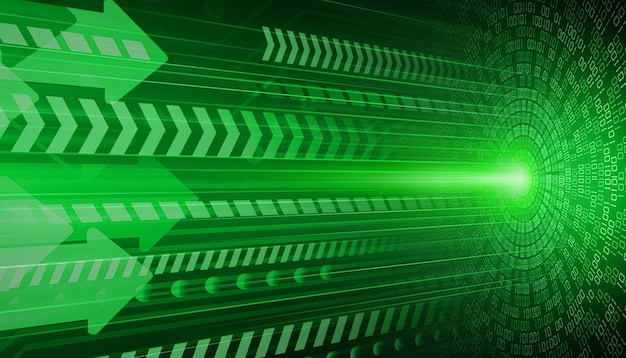 Green eye cyber circuit future technology concept background Premium Photo