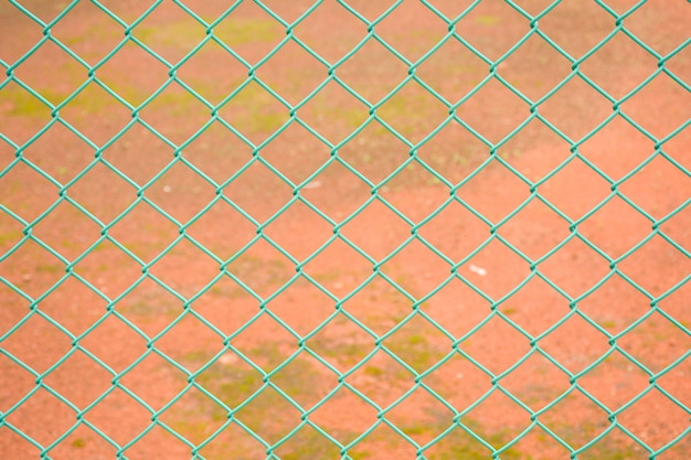 Green fence steel wire mesh Premium Photo