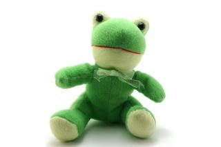Green fluffy toy Free Photo