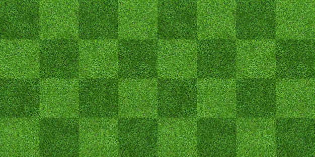 Green grass field pattern background for soccer and football. Premium Photo