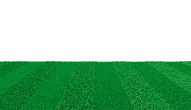 Green lawn 3d illustration Premium Photo