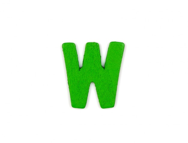 Green letter w Photo | Free Download