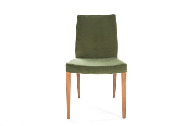 Green lifestyle chair white background furniture Free Photo