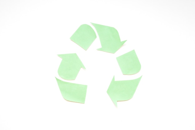 Green paper recycle logo Free Photo