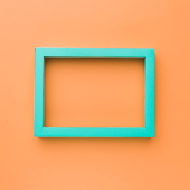 Green rectangular empty picture frame Free Photo