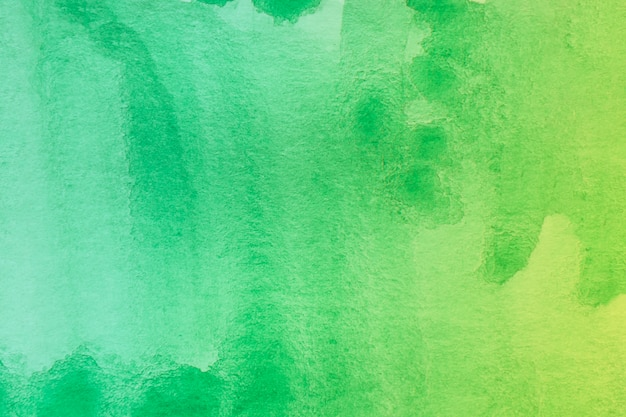 추상 수채화 아트 핸드 페인트 배경의 녹색 그늘 프리미엄 사진