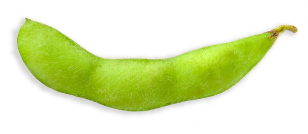 Green soy bean isolated on white clipping path Premium Photo