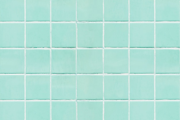 Green square tiled texture background Free Photo