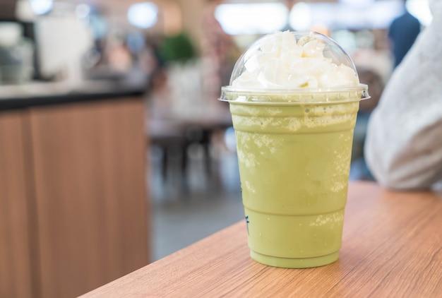 Green tea latte frappe Free Photo