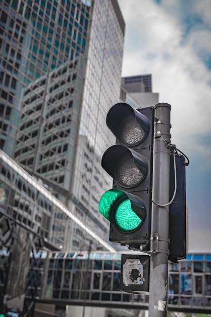 Green traffic light Premium Photo