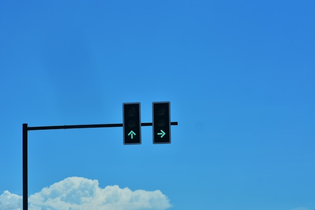 Green traffic lights at the intersection Premium Photo