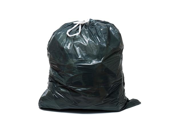 Green trash bag Premium Photo