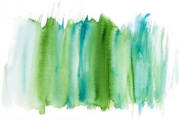 Green and turquoise watercolor brush stroke Free Photo