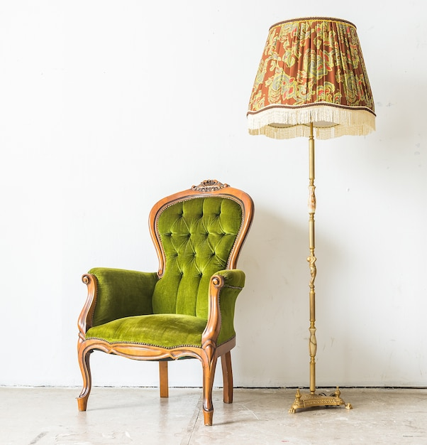 Attractive Green Vintage Sofa Free Photo
