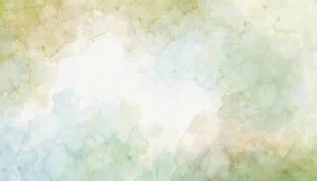 Green watercolor background abstraction Premium Photo