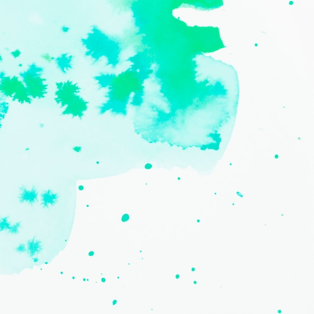 Green watercolor stained design background Free Photo