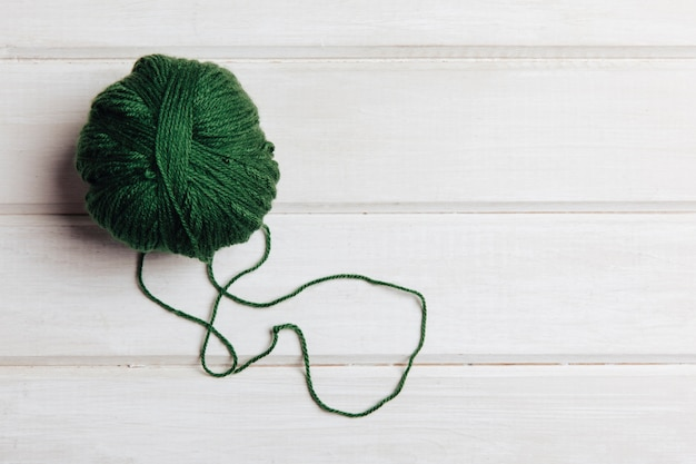 Green wool ball Free Photo