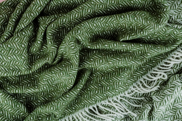 Green woven textured scarf background Free Photo