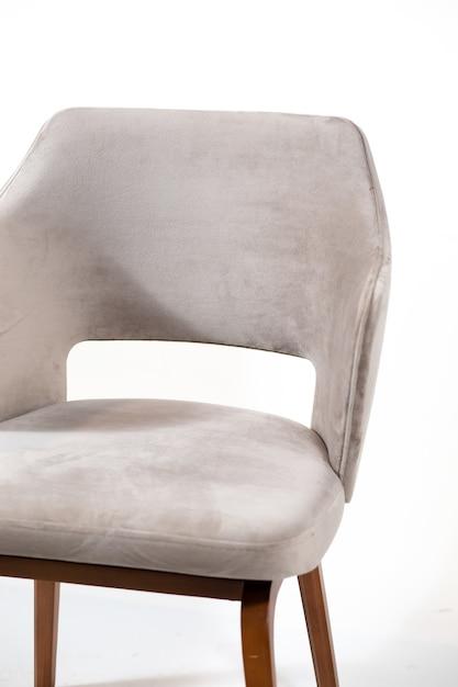 흰색에 고립 된 회색 편안한 안락의 자 무료 사진