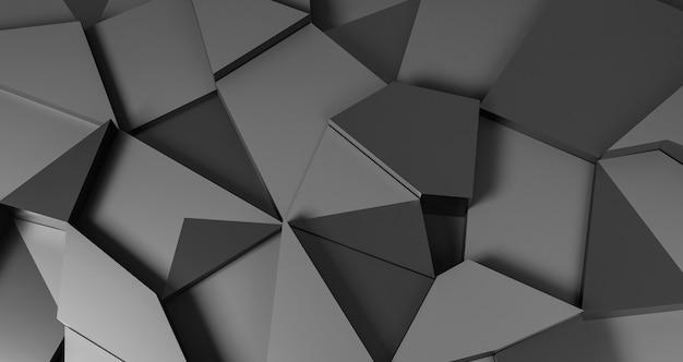 Grey geometrical shapes background Free Photo