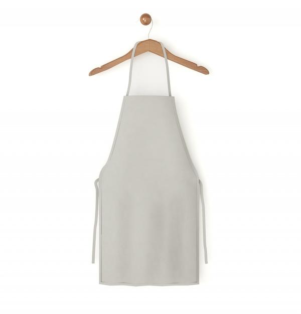 Grey isolated apron Premium Photo