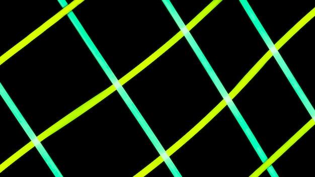 Grid pattern of glowing light tube Free Photo