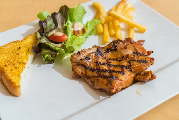 Grill chicken steak Free Photo
