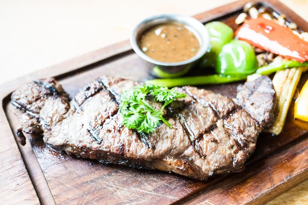 Grilled beef steak Free Photo