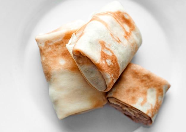 Grilled burritos Premium Photo
