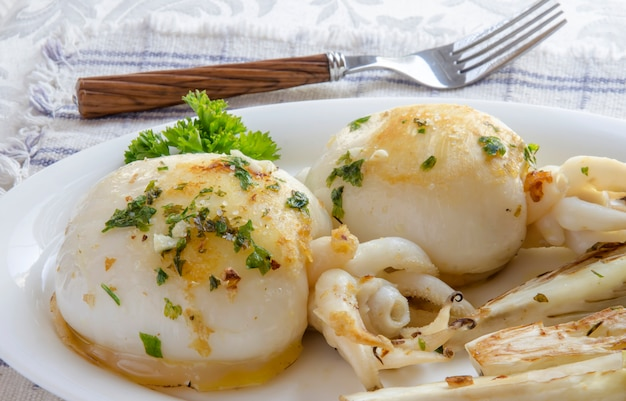 Grilled cuttlefish Premium Photo
