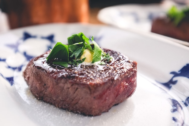 Grilled filet mignon with herbs Free Photo
