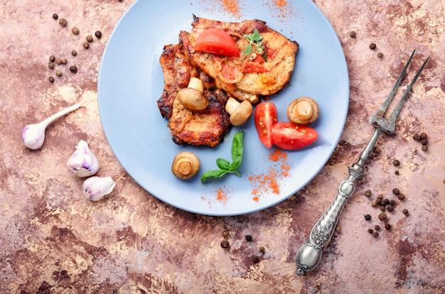 Grilled fillet steak Premium Photo