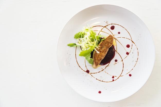 Grilled foie gras Free Photo